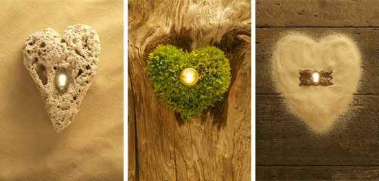 Love is the key: Coral Heart, Sand Heart, Moss Heart